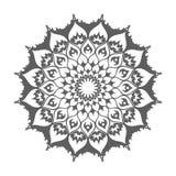 Mandala islamica Decorazione orientale sul vettore bianco Fotografia Stock Libera da Diritti