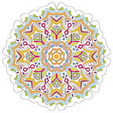 Mandala isolated on white. Traditional ornamented design. Royalty Free Stock Photo