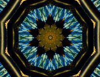 Mandala Kaleidoscope Darkness Design colorée illustration libre de droits