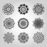 Mandala kaleidoscope design element hand drawn Royalty Free Stock Images