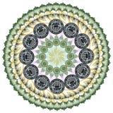 Mandala kalejdoskop elementu amerykanina dolar fotografia royalty free