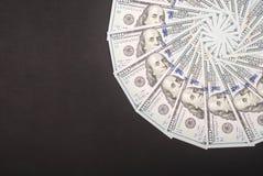 Mandala kalejdoskop od pieniądze Abstrakcjonistyczny pieniądze tła raster wzoru powtórki mandala okrąg zdjęcie stock