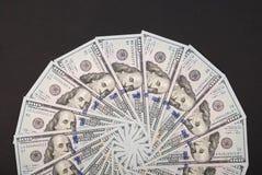 Mandala kalejdoskop od pieniądze Abstrakcjonistyczny pieniądze tła raster wzoru powtórki mandala okrąg zdjęcia stock