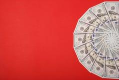 Mandala kalejdoskop od pieniądze Abstrakcjonistyczny pieniądze tła raster wzoru powtórki mandala okrąg zdjęcie royalty free