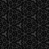 Mandala kalejdoskopu tła czarny i biały deseniowy expolosion Obraz Royalty Free