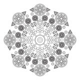 Mandala for kids with flowers in the circle. Royalty Free Stock Image