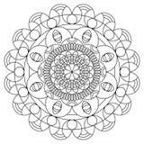 Mandala kleurend boek stock illustratie