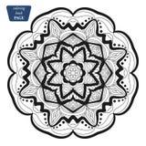 mandala Kleurende boekpagina's Indisch antistressmedaillon Abstracte Islamitische bloem, Arabisch hennaontwerp, yogasymbool royalty-vrije stock afbeelding