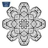 mandala Kleurende boekpagina's Indisch antistressmedaillon Abstracte Islamitische bloem, Arabisch hennaontwerp, yogasymbool royalty-vrije stock foto