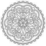 mandala Kleurende pagina Vector illustratie Stock Foto