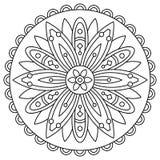 mandala Kleurende pagina Vector illustratie Stock Fotografie