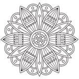 mandala Kleurende pagina Vector illustratie Royalty-vrije Stock Afbeeldingen