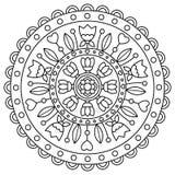 mandala Kleurende pagina Vector illustratie Royalty-vrije Stock Fotografie
