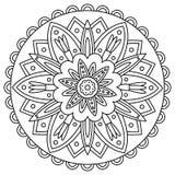 mandala Kleurende pagina Vector illustratie Stock Afbeelding