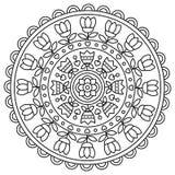mandala Kleurende pagina Vector illustratie Stock Foto's