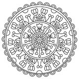 mandala Kleurende pagina Vector illustratie Royalty-vrije Stock Foto