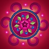 Mandala koło pomyślność Zdjęcia Stock