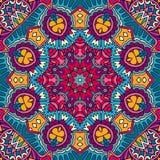 mandala Kolorowy etniczny round ornament sztuki światła wektoru świat ilustracja wektor
