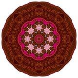 Mandala kolorystyki książki strony brown orientalny mandala Fotografia Royalty Free