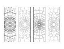 Mandala kropek Bookmarks Barwi stronę Obraz Stock