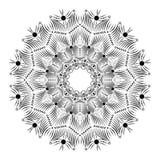 Mandala książkowa pokrywa, czarny i biały tło Obrazy Stock