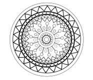 Mandala kwiatu abstrakcjonistyczny wzór dla dorosłej kolorystyki strony Fotografia Royalty Free