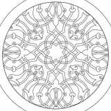 Mandala kwiatu kolorystyki Balowy raster dla dorosłych Fotografia Stock