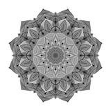 Mandala kwiatu kształt dla wizytówek flayers sztandarów royalty ilustracja