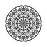 Mandala kwiatu kształt dla wizytówek flayers sztandarów ilustracja wektor