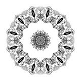 Mandala kwiatu kształt, projekt dekoruje ilustracja wektor