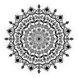 Mandala kwiatu kształt, wektorowy projekt dekoruje royalty ilustracja