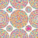 Mandala kwiatu sieci bezszwowy wzór Zdjęcia Royalty Free