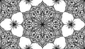 Mandala kwiatu wzór - Tileable tło Zdjęcie Royalty Free