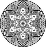 Mandala kwiatu wzoru motywów kwiecisty wektorowy etniczny plemienny wschodni projekt royalty ilustracja