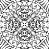 Mandala kwiecistego dekoracyjnego etnicznego elementu kolorystyki dorosły projekt Fotografia Royalty Free