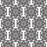 Mandala lace black seamless pattern. Mandala lace black seamless vector pattern. Abstract openwork surface background Royalty Free Stock Image