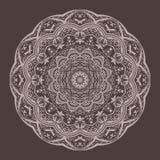 Mandala lace pattern brown vector royalty free illustration