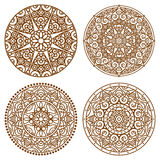 Mandala lace set Stock Images