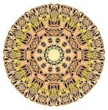 Mandala of life harmony. Fine patterned circle mandala with black patterns Stock Photo