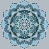 Mandala light blue, guetzal green Oriental Ornament royalty free illustration