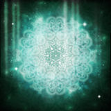 Mandala Lightworker. Intricate mandala with light filtering Stock Photo