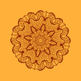 Mandala-like coloring work texture. Hand-drawn new-age pattern round lace. Abstract vector tribal ethnic yoga yantra Stock Photos