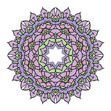 Mandala lilás do vetor Imagens de Stock