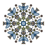 Mandala with Lily. Stock Photography
