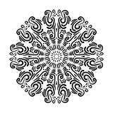 Mandala lindo do flourish Elemento decorativo desenhado à mão do projeto Imagens de Stock Royalty Free