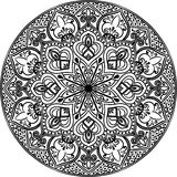 The Mandala line art Royalty Free Stock Photography
