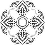 The Mandala line art Royalty Free Stock Image