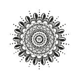 Mandala Line Art Hindu Symbol tradizionale royalty illustrazione gratis
