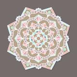 Mandala lineless coloré d'isolement de vecteur Image stock