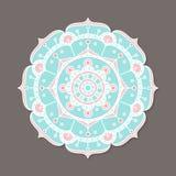 Mandala lineless coloré d'isolement de vecteur Image libre de droits